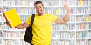 Student success successful banner strong power library people. Learning stock image