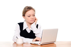 Student surfing the web Royalty Free Stock Photography