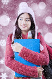 Student with sweater and defocused background Stock Photos