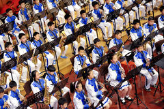 Student symphonic band Royalty Free Stock Image