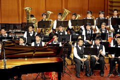 Student symphonic band Stock Photography