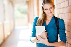 Student with tablet computer Stock Photography