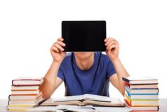 Student with a Tablet Royalty Free Stock Image