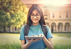 Student with tablet Stock Photos