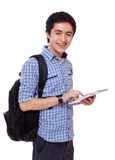 Student with a tablet Stock Photography