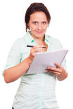 Student takes notes Royalty Free Stock Photo