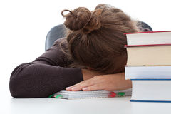 Student taking a break in learning Stock Images