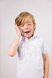 Student talking on mobile phone Stock Photography