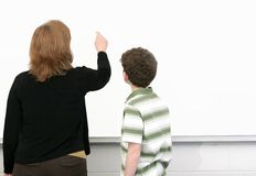 Student and teacher Stock Image