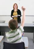 Student and teacher Stock Photography