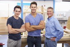 Student And Teacher In Carpentry Class Royalty Free Stock Photography