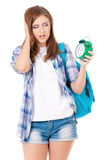 Student teen girl Royalty Free Stock Photography