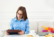 Student teen girl studying Stock Photography