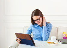 Student teen girl studying Stock Images