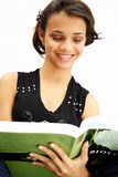 Student teenage girl reading stock images