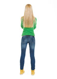 Student teenage girl. Rear view Stock Photography
