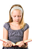 A student teenager girl reading a book Stock Photos