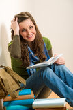 Student teenager woman hold book Stock Photography