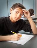 Student - Test Anxiety Royalty Free Stock Photography