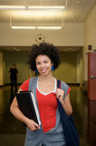 Student with Text book indoor Royalty Free Stock Photography