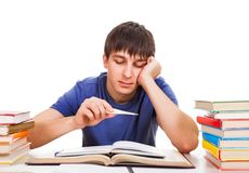 Student with a Thermometer Royalty Free Stock Photos