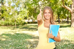 Student with thumb up Stock Image