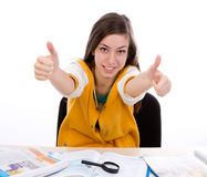 Student  thumb up Stock Image