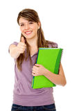 Student with thumbs up Royalty Free Stock Images