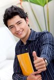 Student with thumbs-up Stock Photography