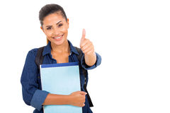 Student thumbs up Royalty Free Stock Photography