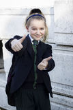 Student thumbs up Royalty Free Stock Photo