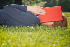 Student Tired from Reading Royalty Free Stock Images