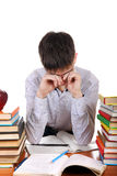 Student Tired Royalty Free Stock Photo