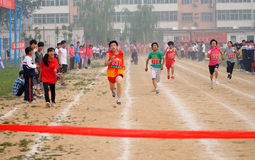 Student Track and Field Games stock image