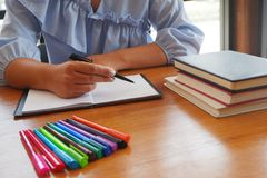 Student tutoring teaching learning education concept stock images