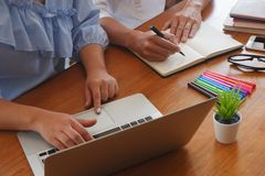 Student tutoring teaching learning education concept royalty free stock image