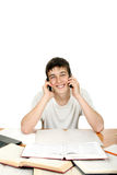 Student With Two Phones Royalty Free Stock Photo