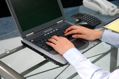 Student Typing Stock Image