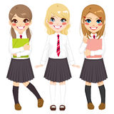 Student Uniform Girls stock illustratie