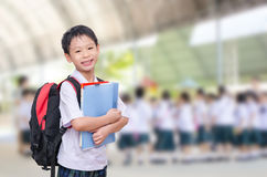 Student in uniform at school Royalty Free Stock Photos