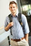 Student in universiteit Stock Foto