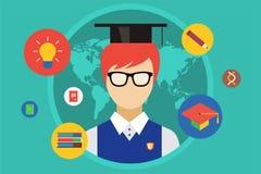 Student and university objects illustration Stock Photo