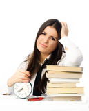 Student unwilling ot do homework Stock Photo