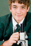 Student use microscope Stock Photography