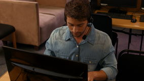 Student using computers in the computer room stock video footage