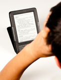 Student using an e-book Stock Photos