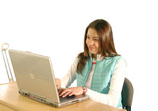 Student using a laptop Stock Photos