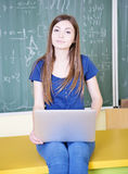Student using laptop Royalty Free Stock Photo