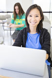 Student  using laptop Stock Images