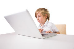 Student using a laptop pc Stock Photography